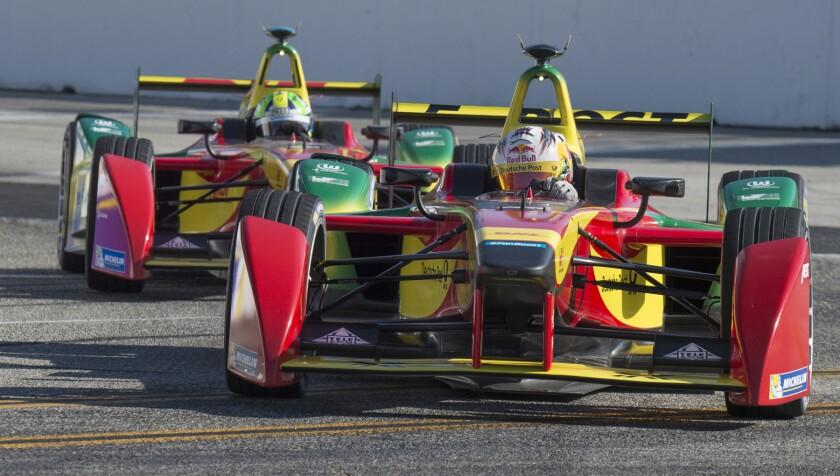 Formula E racing in Long Beach in 2015