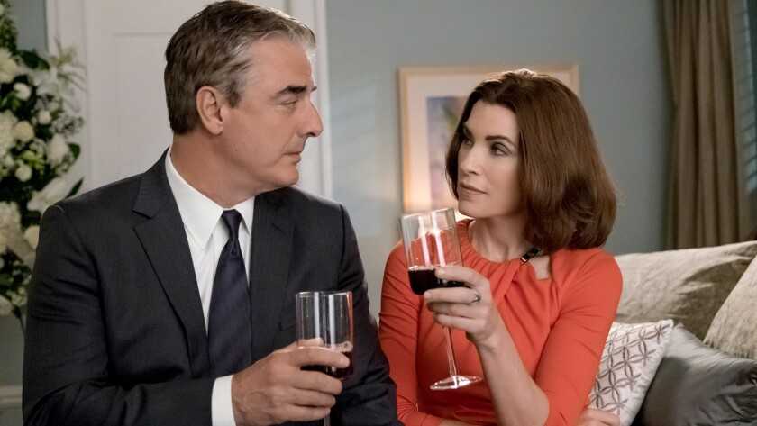 "Chris Noth and Julianna Margulies in ""The Good Wife"" on CBS."