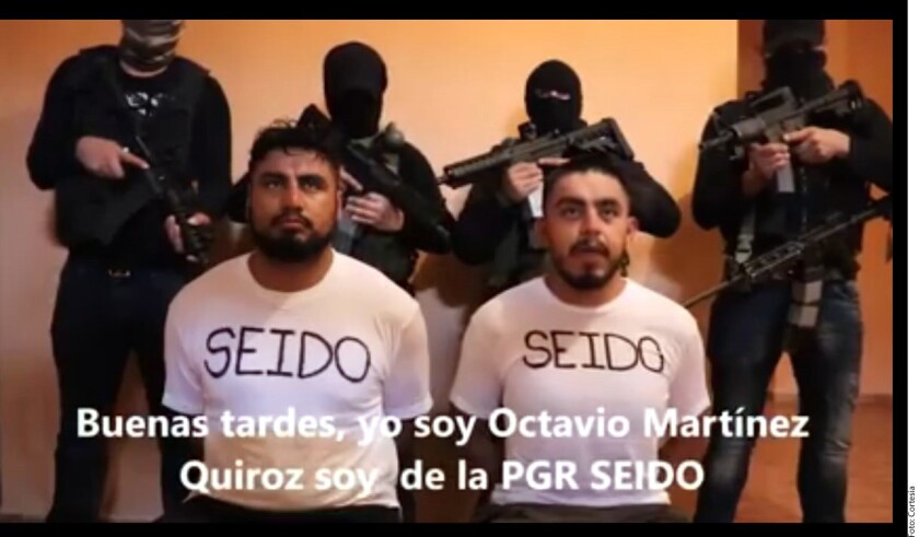 Dos agentes de investigación de la PGR fueron levantados por el Cártel Jalisco Nueva Generación (CJNG) y obligados a grabar un video en el que se denuncian presuntos abusos en las operaciones antinarco.