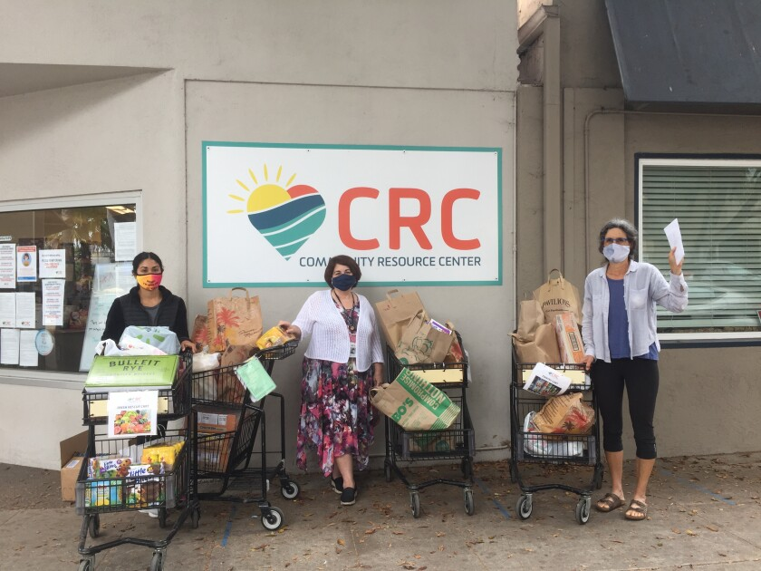 CRC accepts donations from local food drive