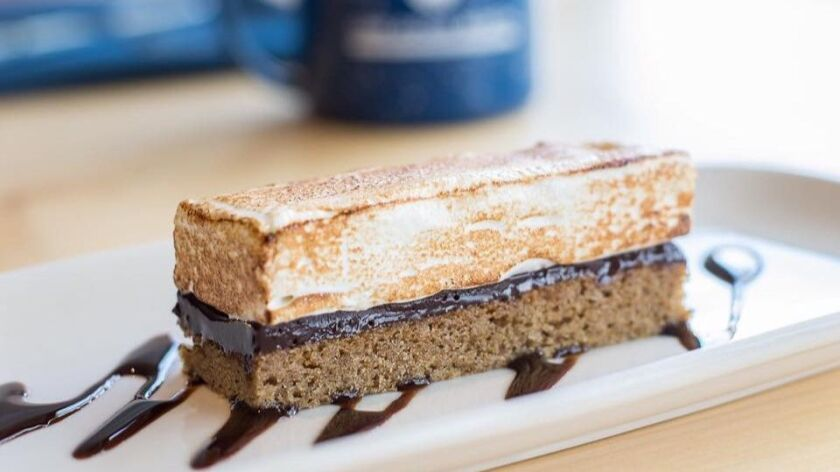 A toasted s'mores bar at One Door North restaurant.