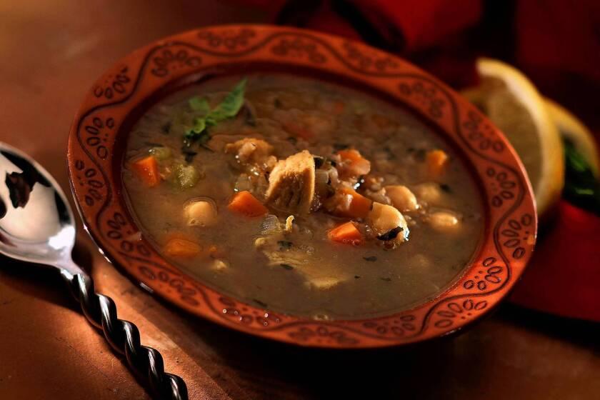 Cayenne's Moroccan chicken soup. Recipe.