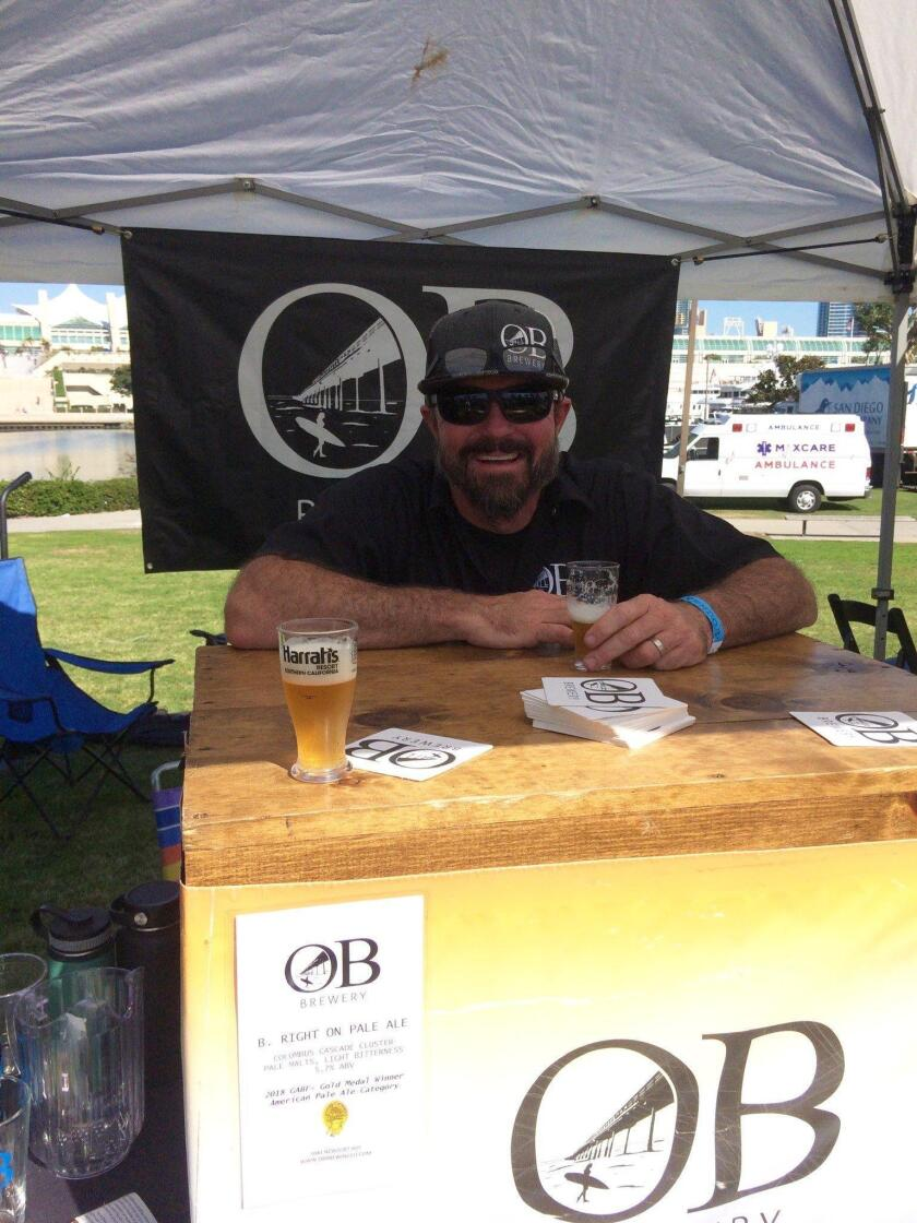 An OB Brewery beertender awaits his next guest. Held Nov. 3 at downtown San Diego's Embarcadero Marina Park South, Guild Fest was the official kick-off event for San Diego Beer Week 2018.