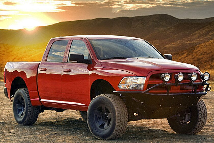 SEMA: VWerks creates Raptor-fighter for Dodge Ram trucks
