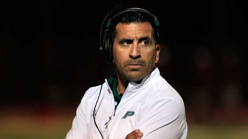 Damian Gonzalez guided Poway to two San Diego Section championships as head football coach.