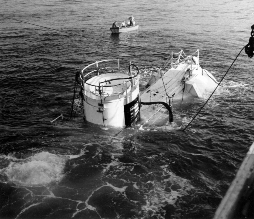 Sealab II was photographed by the Navy in February 1966.