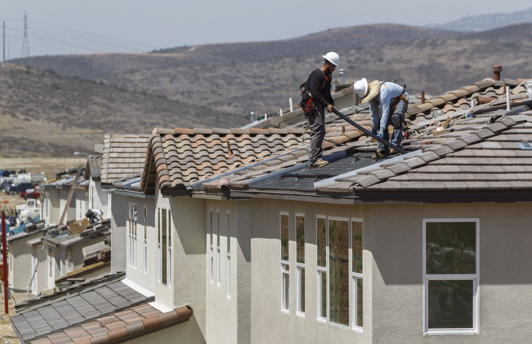 Housing construction in San Diego County.