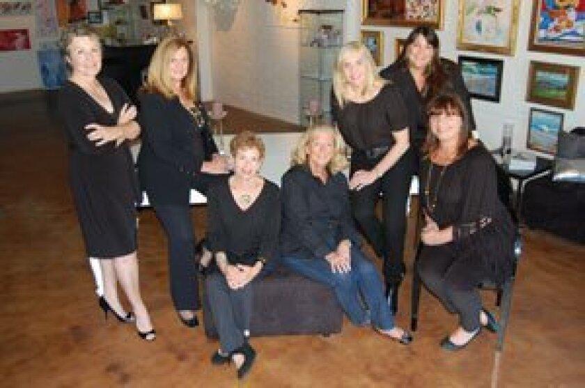 Karen Devine, Jackie Helm, Sue Kalish, Maryl Weightman, Colleen McNally, Anseth Richards, Kimberly Lee. Courtesy