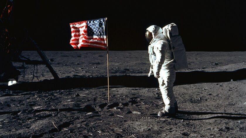 Astronaut Edwin E. Aldrin Jr., lunar module pilot of the first lunar