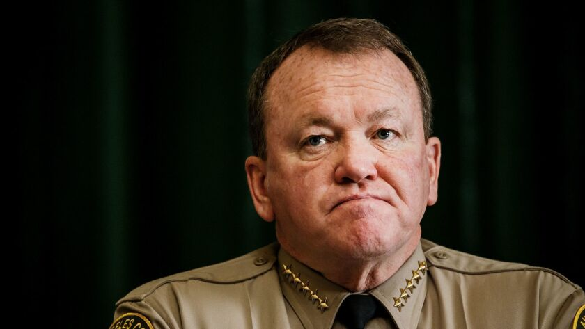 L.A. County Sheriff Jim McDonnell, above, has been blocked by the California Supreme Court from providing Dist. Atty. Jackie Lacey with the names of deputies involved in misconduct serious enough to compromise their ability to testify.