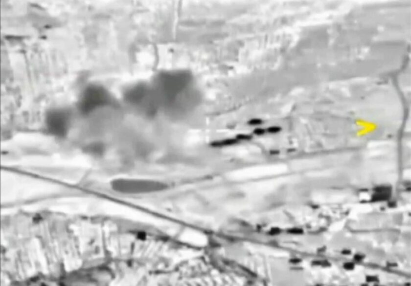 Russian airsrike in Syria