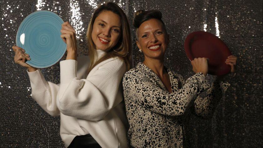 LOS ANGELES, CA JANUARY 12, 2018: Portrait of Danielle Kort, left, and co-founder of Women Breakin