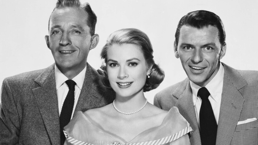 "Bing Crosby, Grace Kelly and Frank Sinatra in ""High Society."""