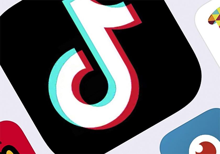 El icono de la app TikTok.