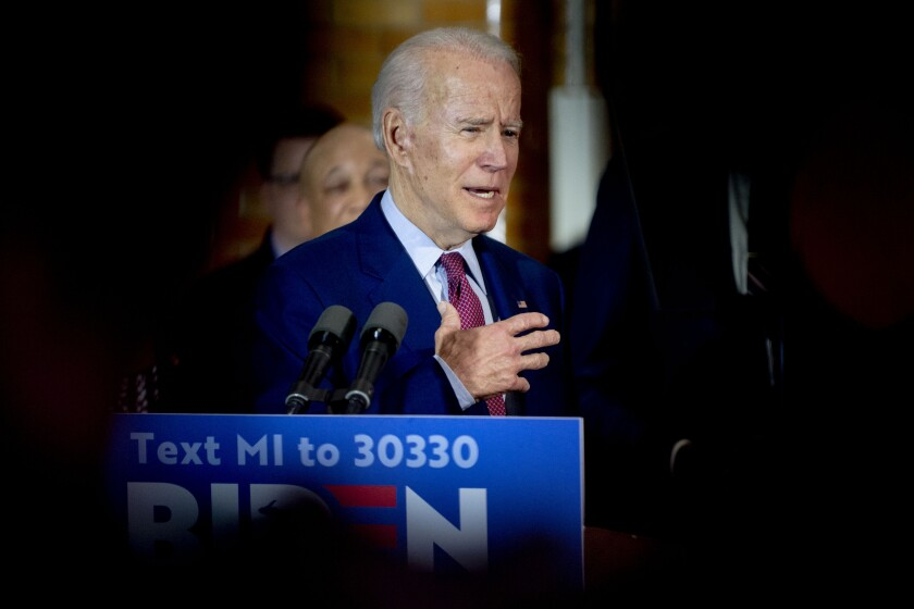 Joe Biden campaigning in Michigan