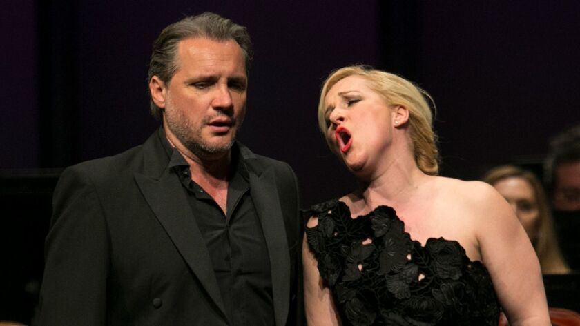 SANTA MONICA, CA, SUNDAY, MARCH 12, 2017 - Opera singers Diana Damrau and Nicolas Teste, wife and h