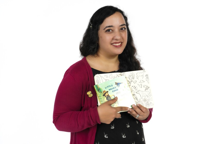 """San Diego artist Susie Ghahremani has illustrated a children's book inspired by the words of environmentalist John Muir, entitled """"Little Muir's Song,"""" to encourage families with young children to head outdoors."""