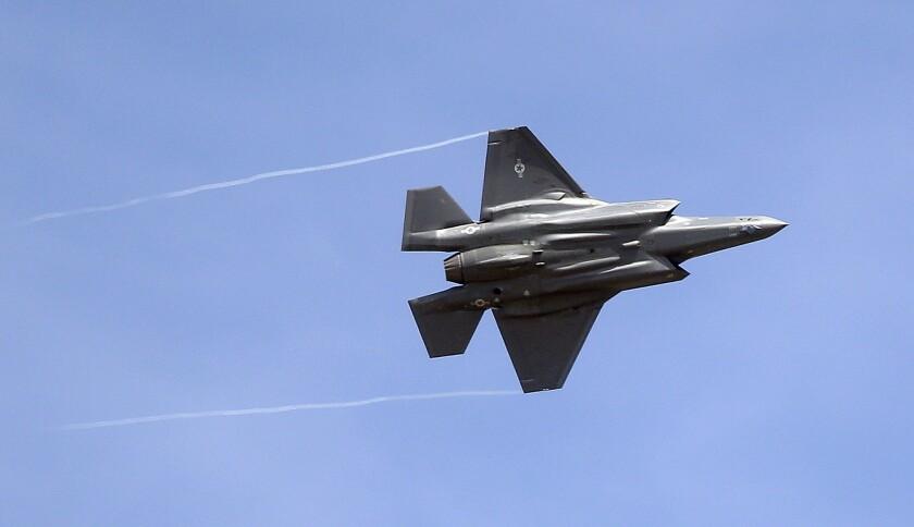 An F-35 jet arrives at its new operational base at Hill Air Force Base, Utah.
