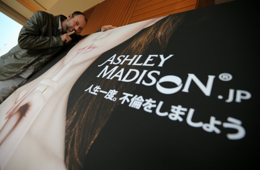"FILE - A Tuesday, April 1, 2014 file photo of Noel Biderman, chief executive of Avid Life Media Inc., which operates AshleyMadison.com., posing during a photo session in Tokyo. Hackers claim to have leaked a massive database of users from Ashley Madison, a matchmaking website for cheating spouses. In a statement released Tuesday, Aug. 18, 2015, a group calling itself Impact Team said the site's owners had not bowed to their demands. ""Now everyone gets to see their data,"" the statement said. (AP Photo/Eugene Hoshiko, File)"