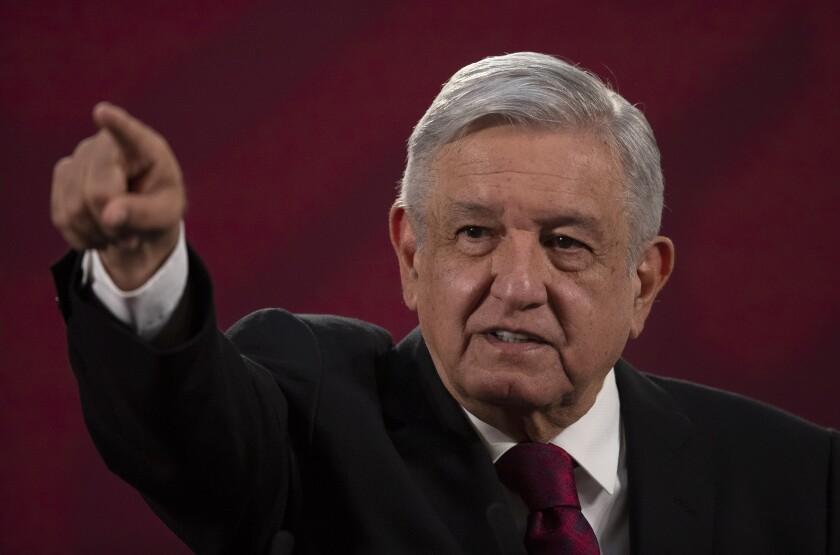 El presidente mexicano Andrés Manuel López Obrador en Ciudad de México el 13 de julio del 2020.