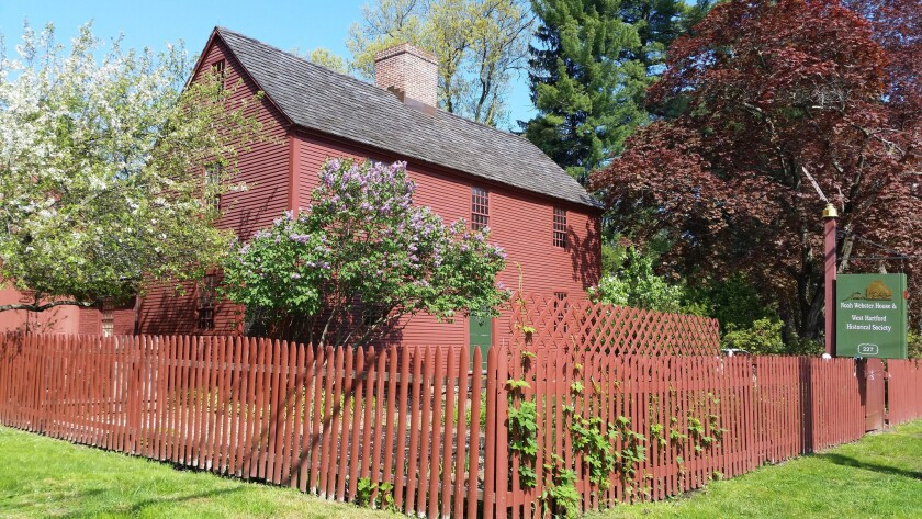 A photograph of the Noah Webster house. Credit: Noah Webster House