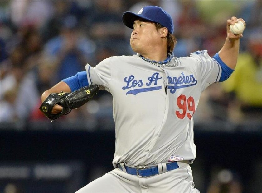 El jugador surcoreano Hyun-Jin Ryu. EFE/Archivo