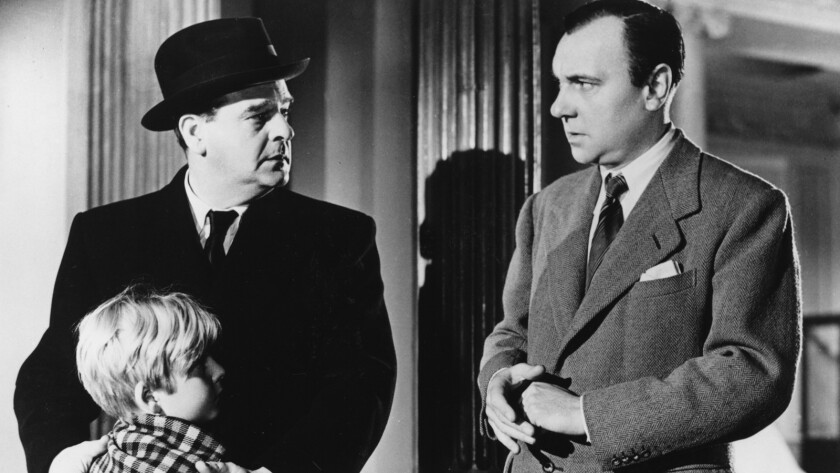 "Bobby Henrey, left, Walter Fitzgerald and Ralph Richardson in the 1948 movie ""The Fallen Idol."""