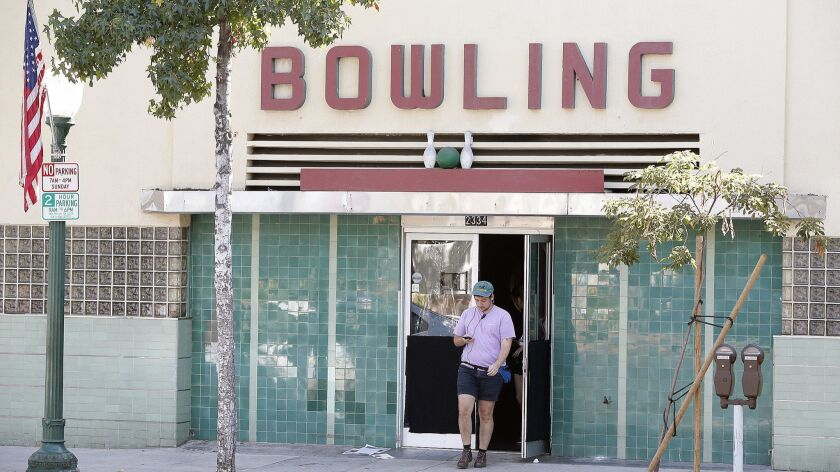 Four or five prospective buyers have expressed interest in the Montrose Bowl, which is listed for $3.4 million on Loopnet, though none have moved forward.