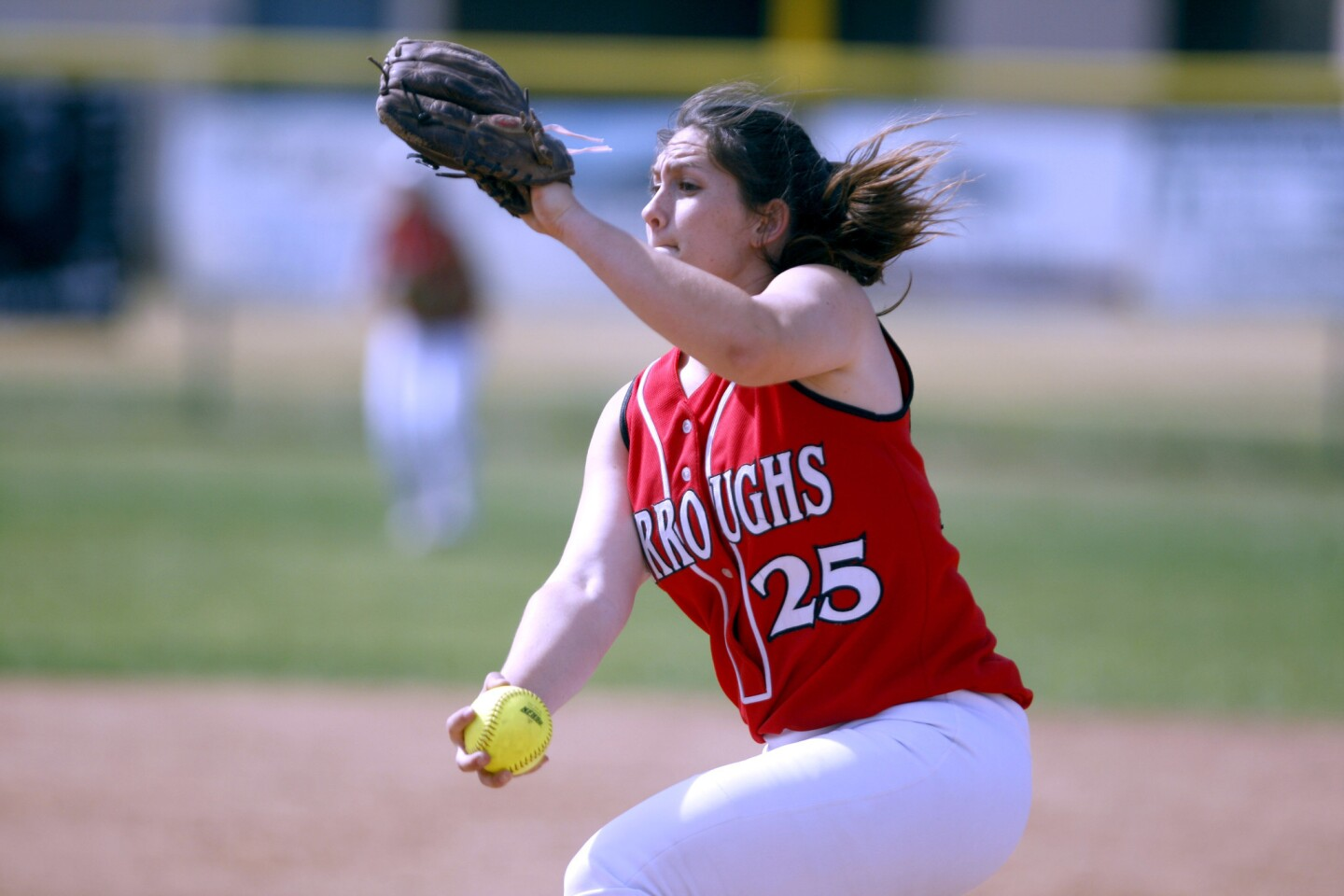 Photo Gallery: Burroughs High School softball breaks game wide open vs. Crescenta Valley High School at top of fifth inning
