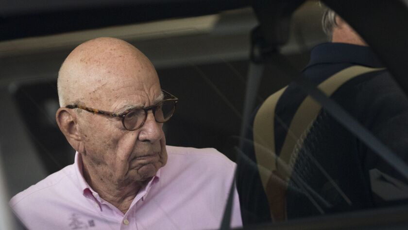 Rupert Murdoch, chairman of 21st Century Fox, and his family are expected to gain more than $12 billion in value for the sale of much of Fox to Walt Disney Co.