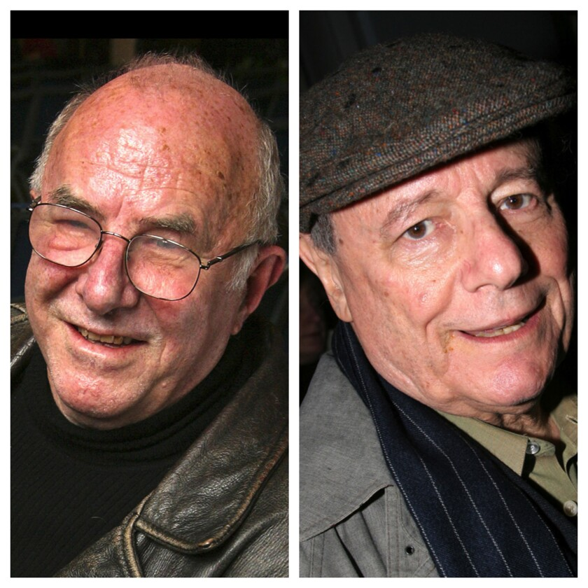 Clive James, left, and John Simon.