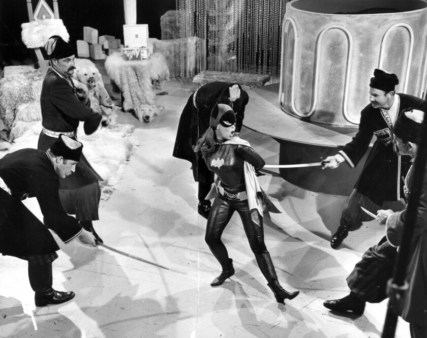 "Actress and former ballerina Yvonne Craig, who played Batgirl in the TV series ""Batman,"" dances to e"