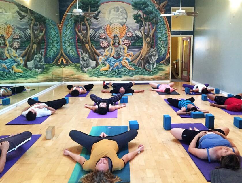 A Goda Yoga class.