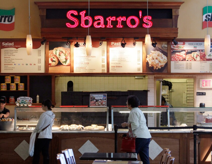 Sbarro files for bankruptcy.