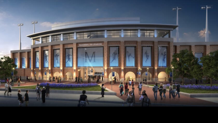 Artist's rendering of the soon to be built football stadium for McKinney North High School.