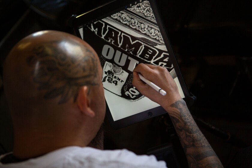 Jose Guijosa designs a Kobe Bryant-themed tattoo