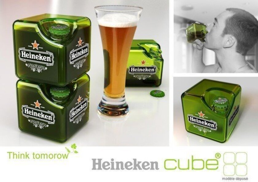 The Heineken Cube concept, designed by Petit Romain, is just an idea so far.