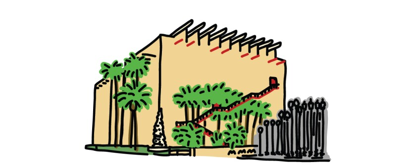 Illustration of the BCAM building at LACMA
