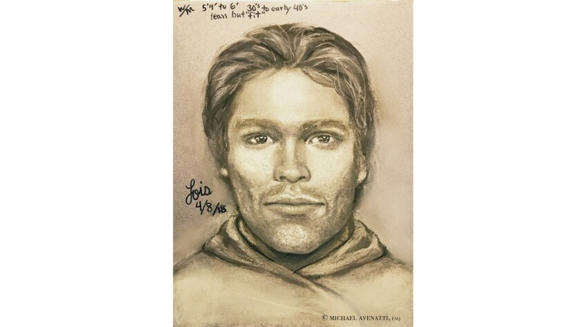 A drawing released by attorney Michael Avenatti purports to show the man that adult film actress Stormy Daniels says threatened her in a Las Vegas parking lot in 2011.
