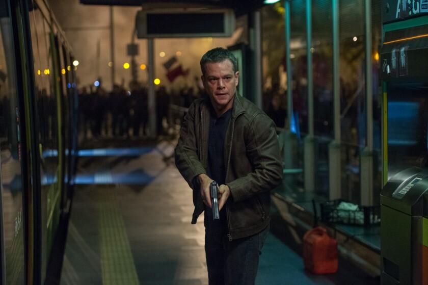 """Matt Damon shooting a scene in London of """"The Bourne Ultimatum."""""""