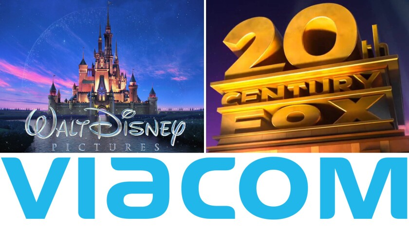 Stocks fell for the Walt Disney Co., 21st Century Fox and Viacom Inc.