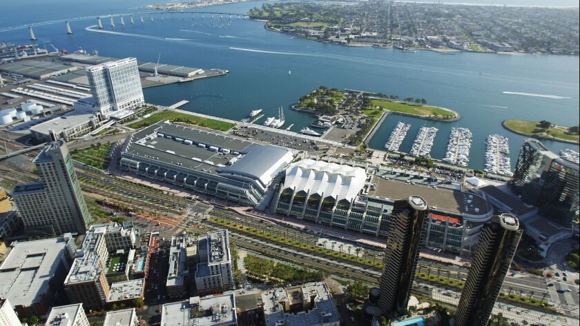 The San Diego Convention Center.