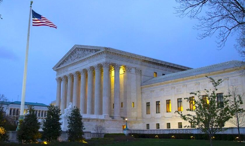 La Corte Suprema de Estados Unidos, en Washington.