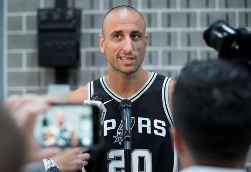 Manu Ginobili, jugador de los Spurs de San Antonio. EFE/Archivo