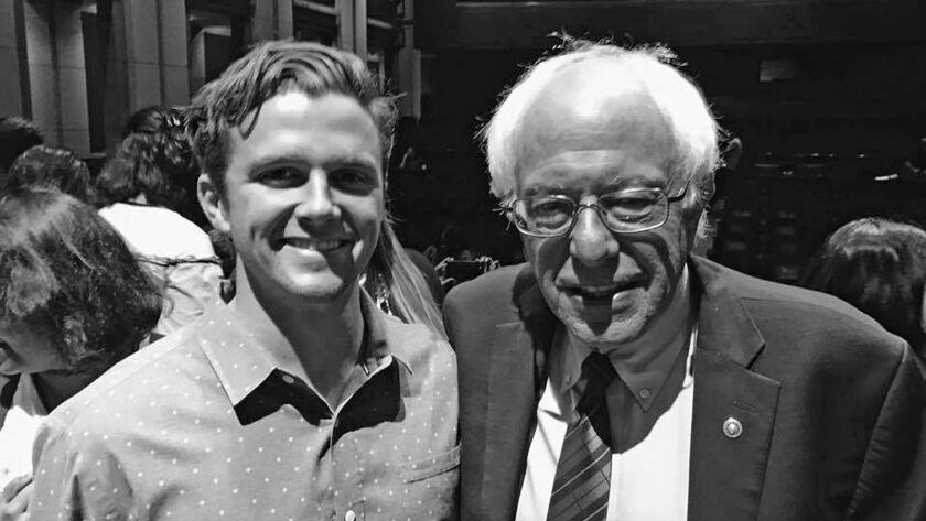 Jackson Hinkle met with Sen. Bernie Sanders this week as part of a trip to Washington D.C. to speak