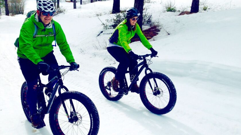 Tahoe Mountain Guides run two-hour snow bike outings.
