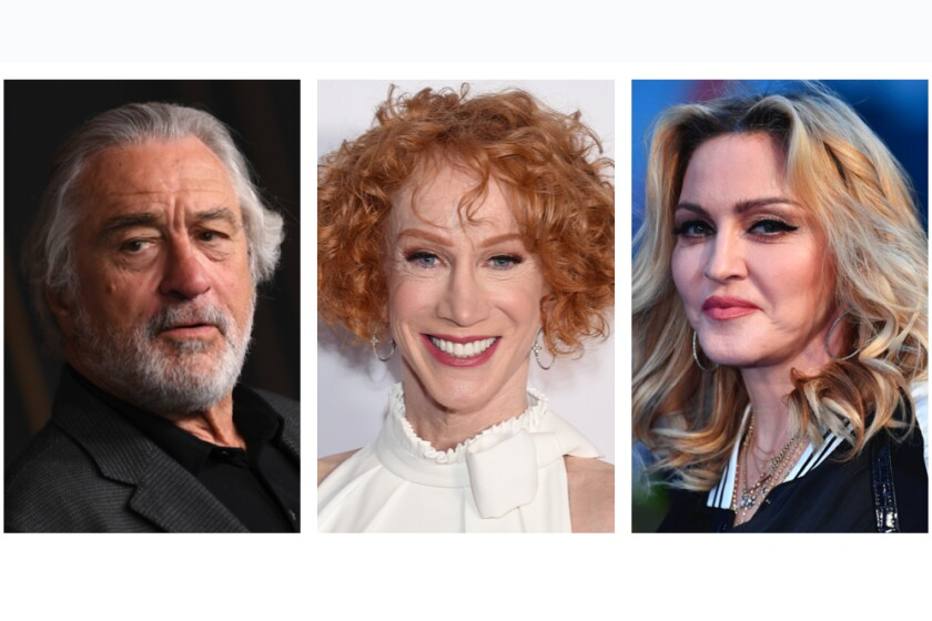 Robert De Niro, Kathy Griffin and Madonna