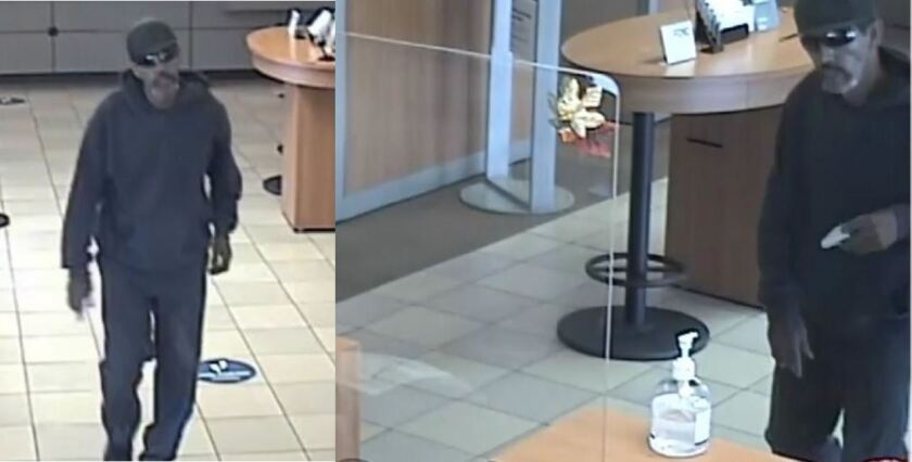 The FBI is seeking assistance to identify this man, who is suspected of robbing a Fallbrook bank on Halloween.