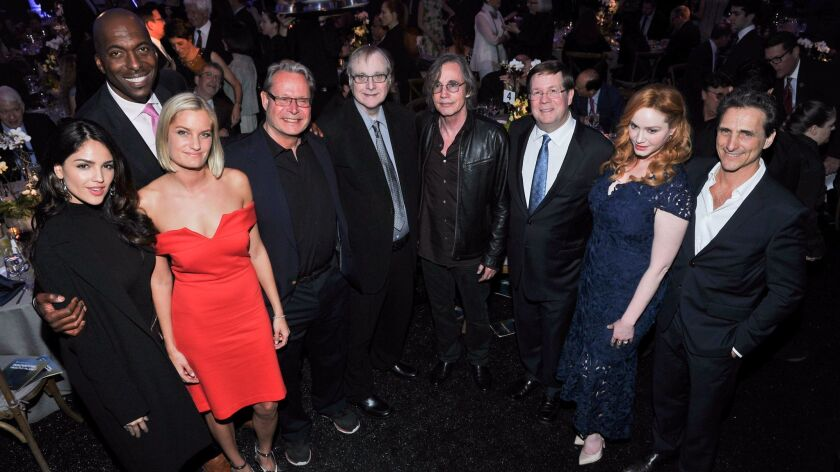 From left: Eiza González, John Salley, Alexandria Jackson, Peter Kareiva, Paul G. Allen, Jackson Browne, Jim Lentz, Christina Hendricks and Lawrence Bender attended the UCLA Institute of the Environment and Sustainability's annual gala.