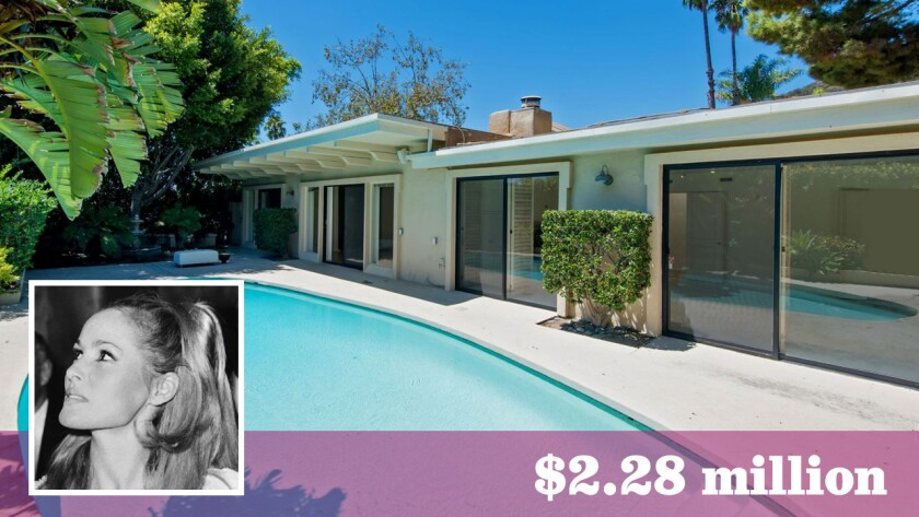 """Actress-model Ursula Andress of """"Dr. No"""" film fame has sold her home in Beverly Hills for $2.28 million."""